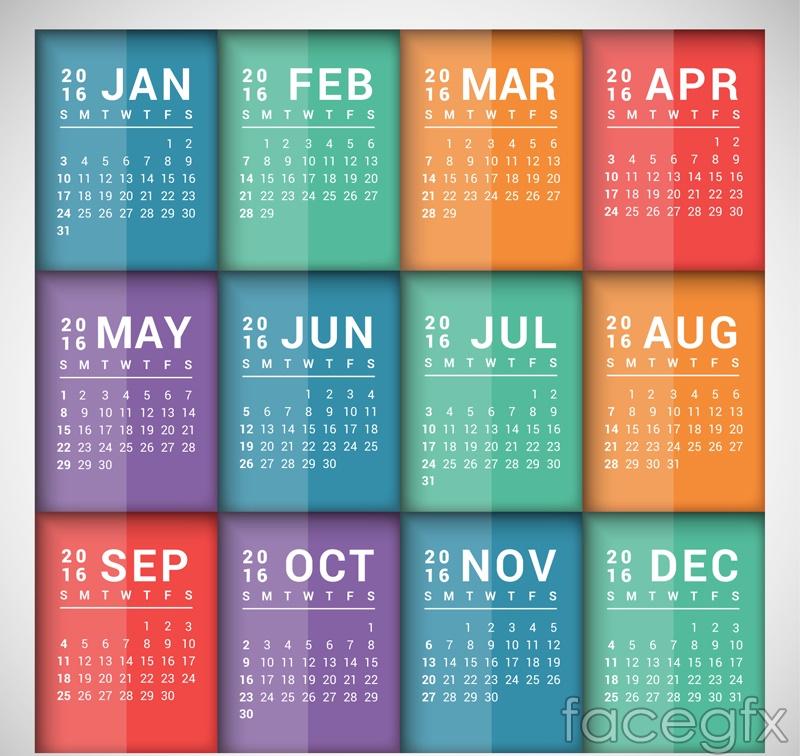 Calendar Design Ideas Vector : Best calendar vector templates designmaz
