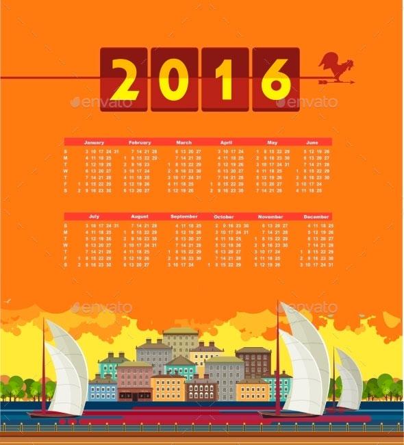 Calendar-2016-vector