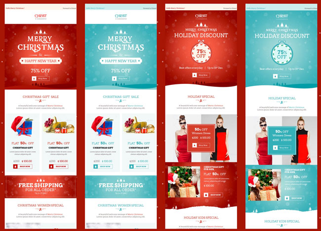 25+ Best Christmas Email Newsletter Templates 2016 - Designmaz