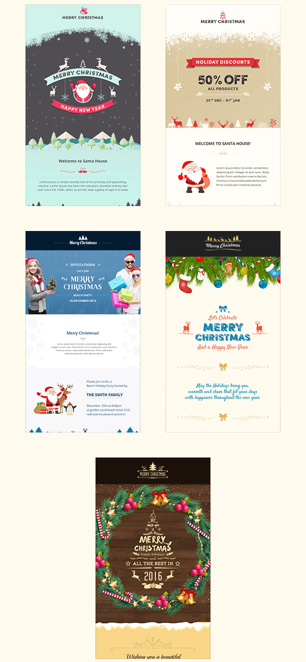 25 best christmas email newsletter templates 2016 designmaz. Black Bedroom Furniture Sets. Home Design Ideas