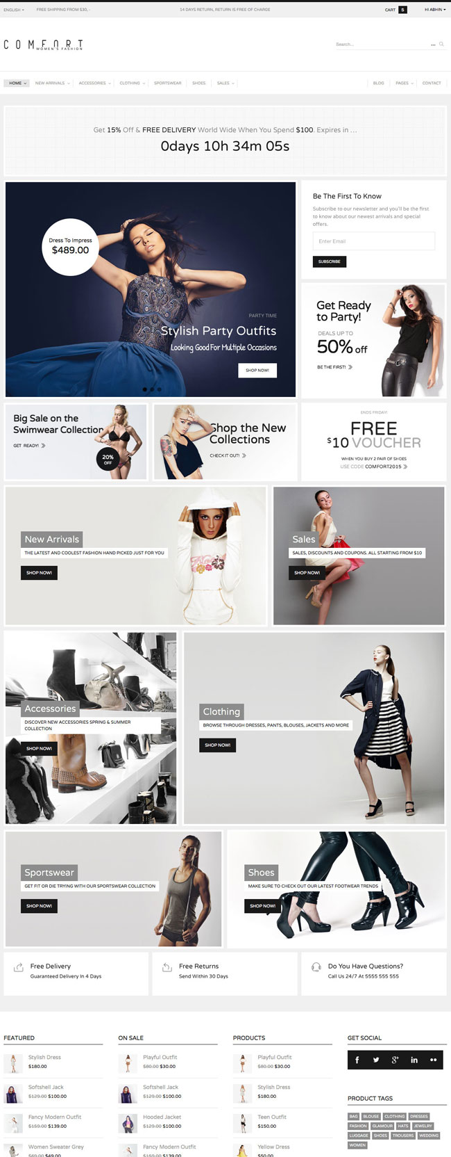 Comfort-Premium-WordPress-Commerce-Theme
