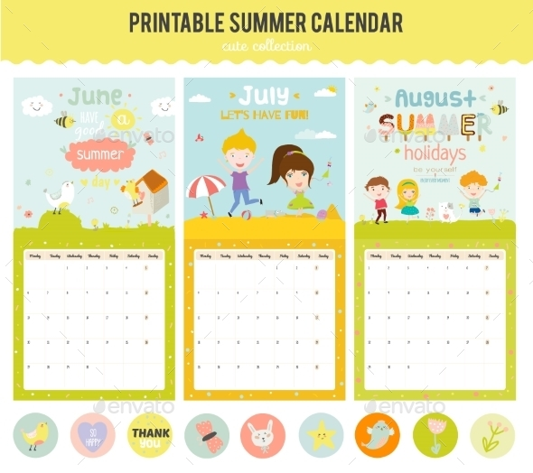 Cute Calendar Templates 2016 : Best calendar vector templates designmaz