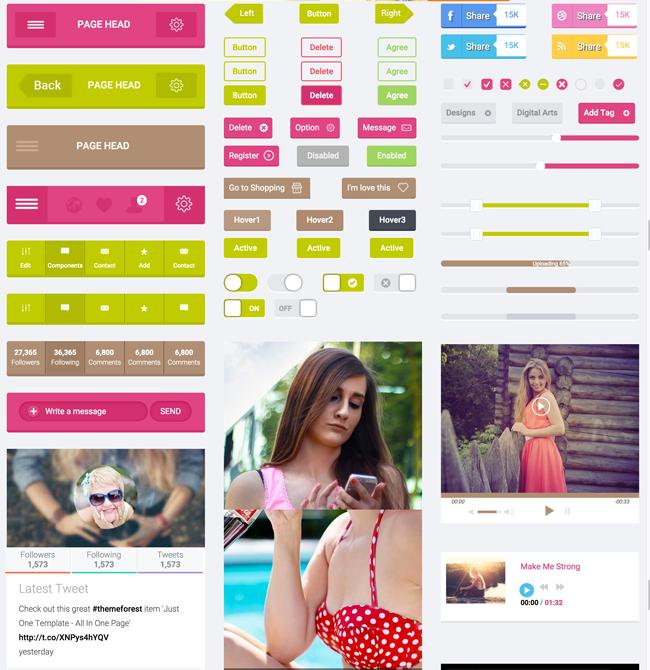 Free-Flat-HTML5-CSS3-UI-Kit