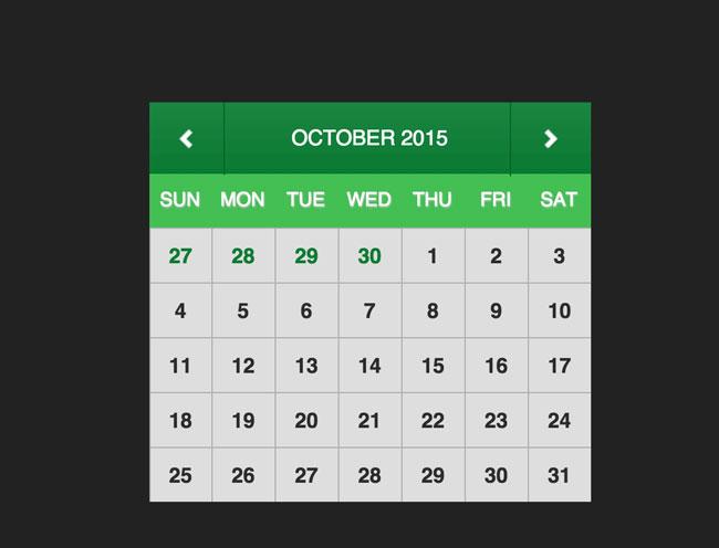 Calendar Templates Html Css : Best free html css calendar widgets designmaz