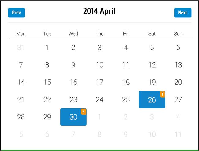 Calendar Design Css : Best free html css calendar widgets designmaz