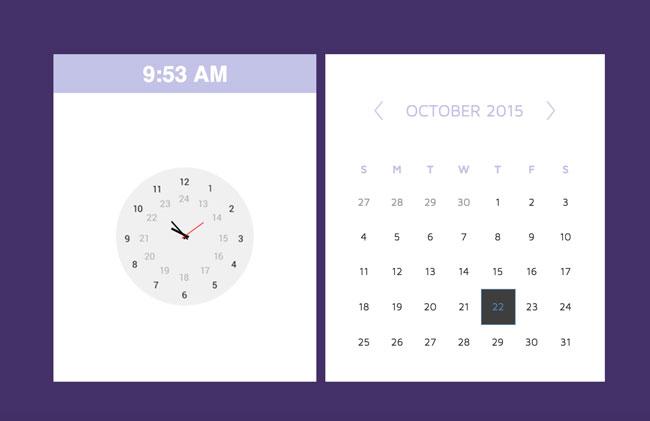 7 Best Free Html5 Css3 Calendar Widgets Designmaz
