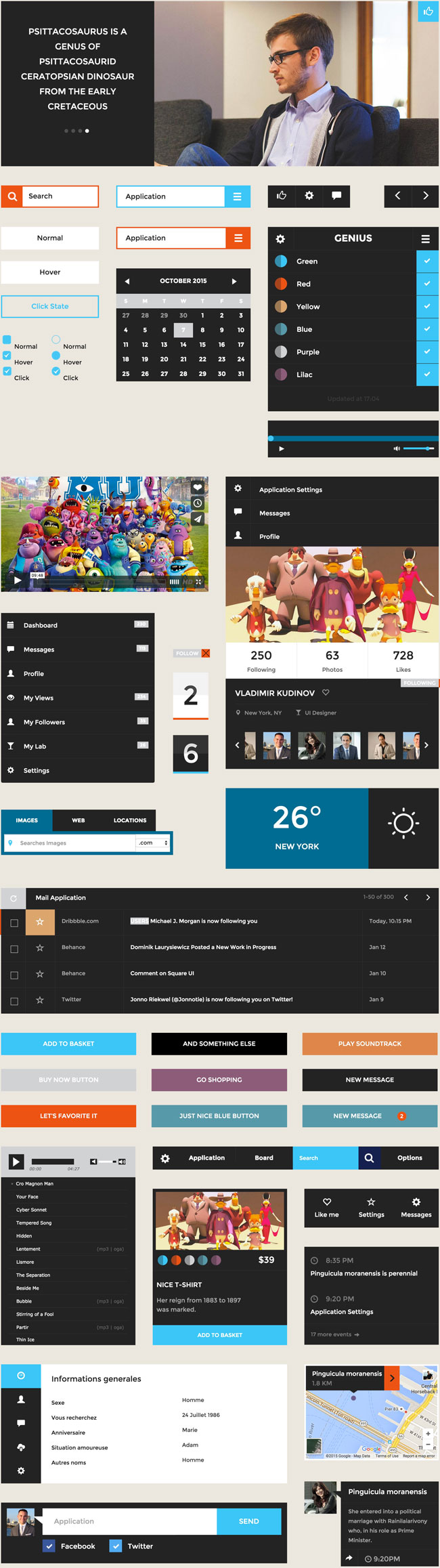 Square HTML5 CSS3 UI Kit Preview