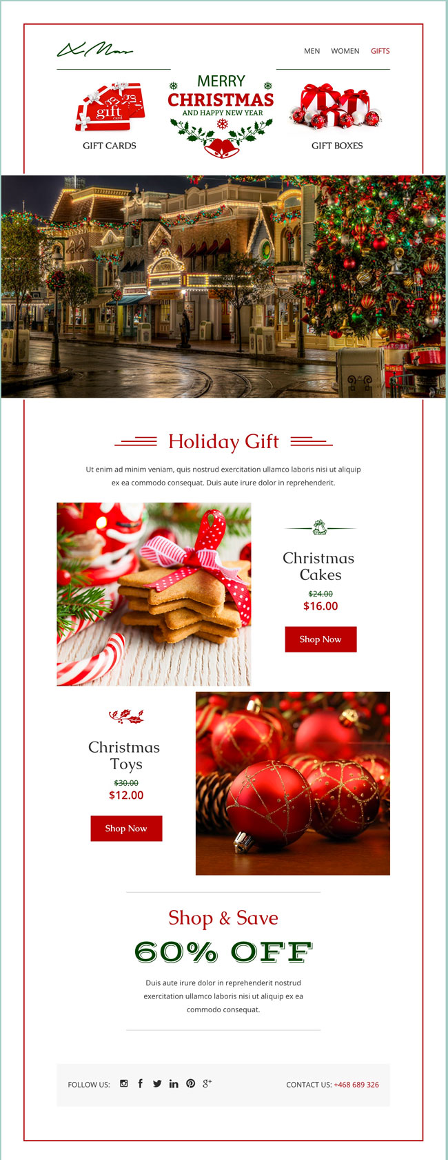 xmas email template online emailbuilder 21