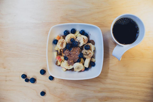 Banana Blueberries With Coffee