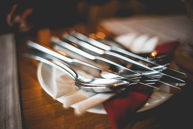 Close Up of Table Setting with Cutlery