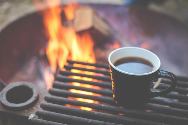 Coffee Cup on the Fire