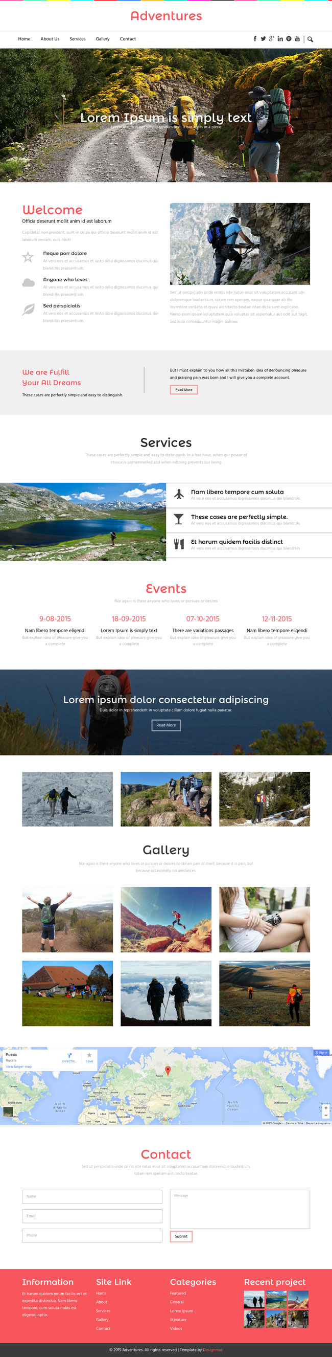 Free Adventure Travel HTML5 CSS3 Template