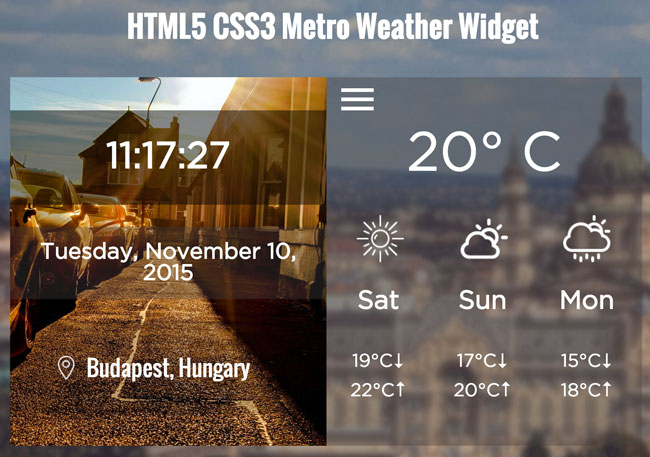 Free-HTML5-CSS3-Metro-Weather-Widget