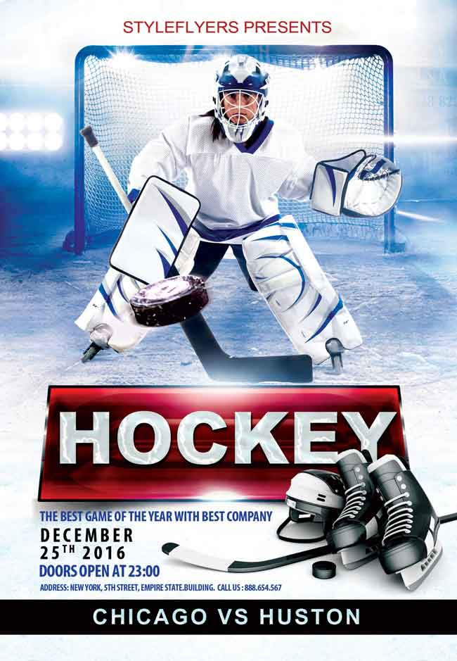 Free-Hockey-PSD-Flyer