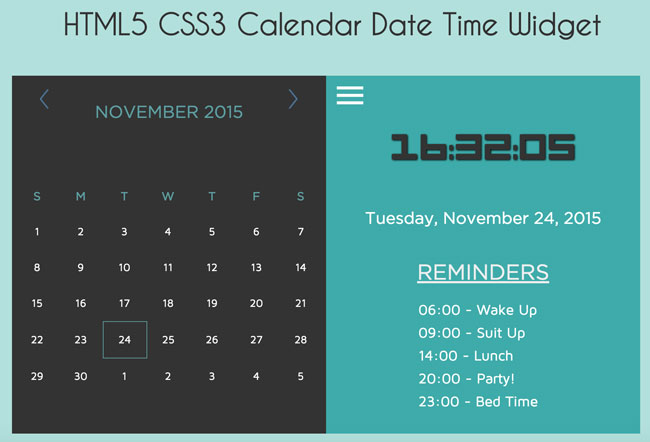 HTML5-CSS3-and-jQuery-Calendar-Date-Time-Widget