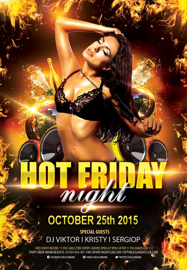 Hot-friday-night-PSD-Flyer