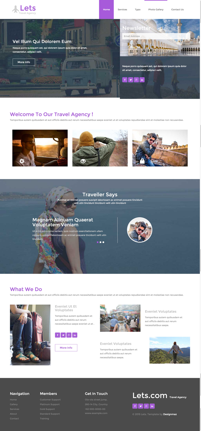 Lets - Free Responsive HTML5 CSS3 Travel Template