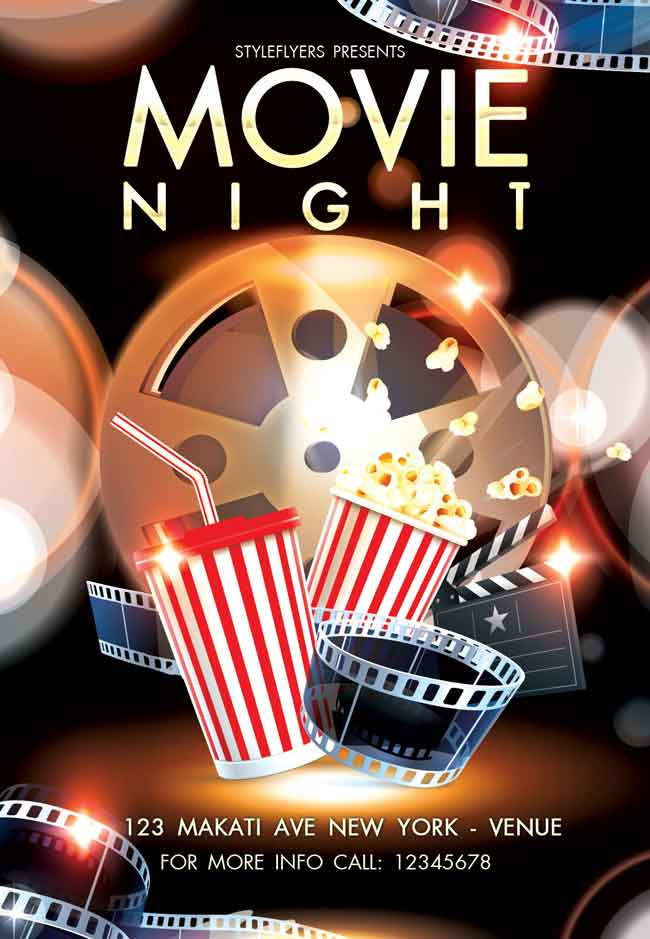 Movie-Night-Flyer-PSD-free