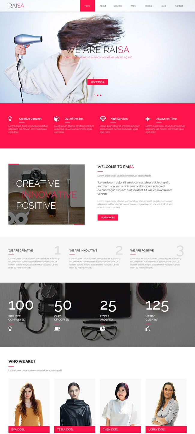 Raisa-Creative-multipurpose-Muse-Template
