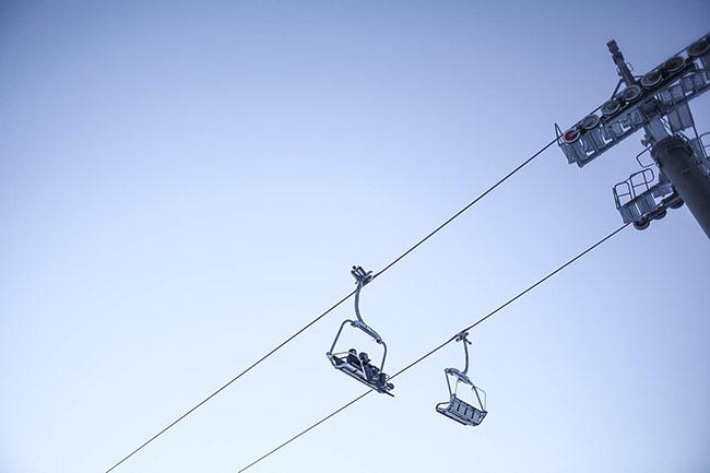 Sky and ski