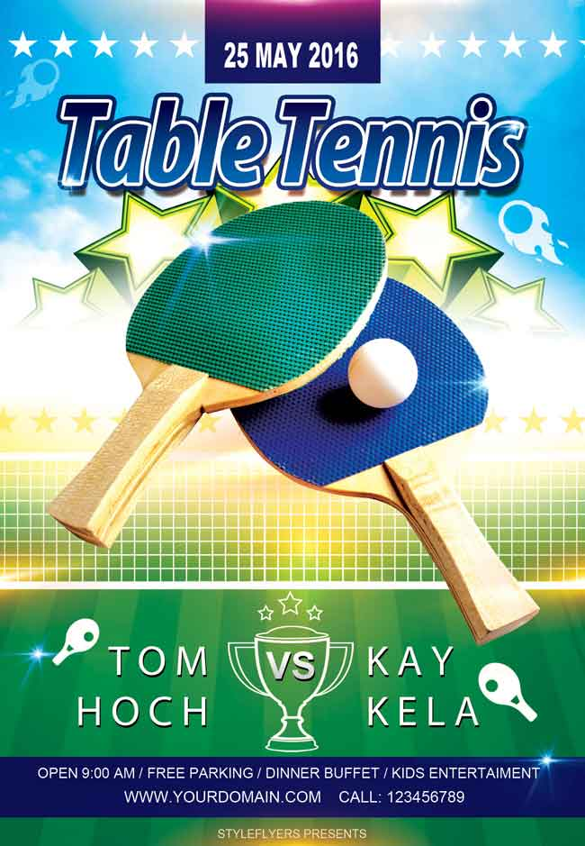 25 free stylish psd flyers template designmaz for Table tennis tournament template