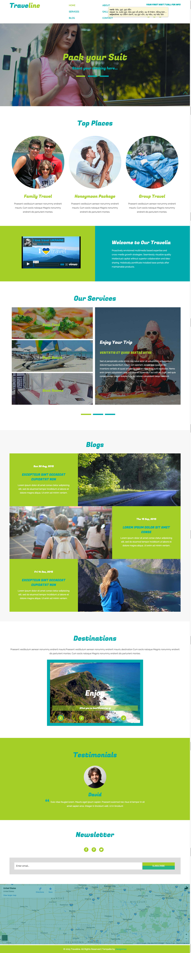 Traveline - Free Responsive HTML5 Travel Template