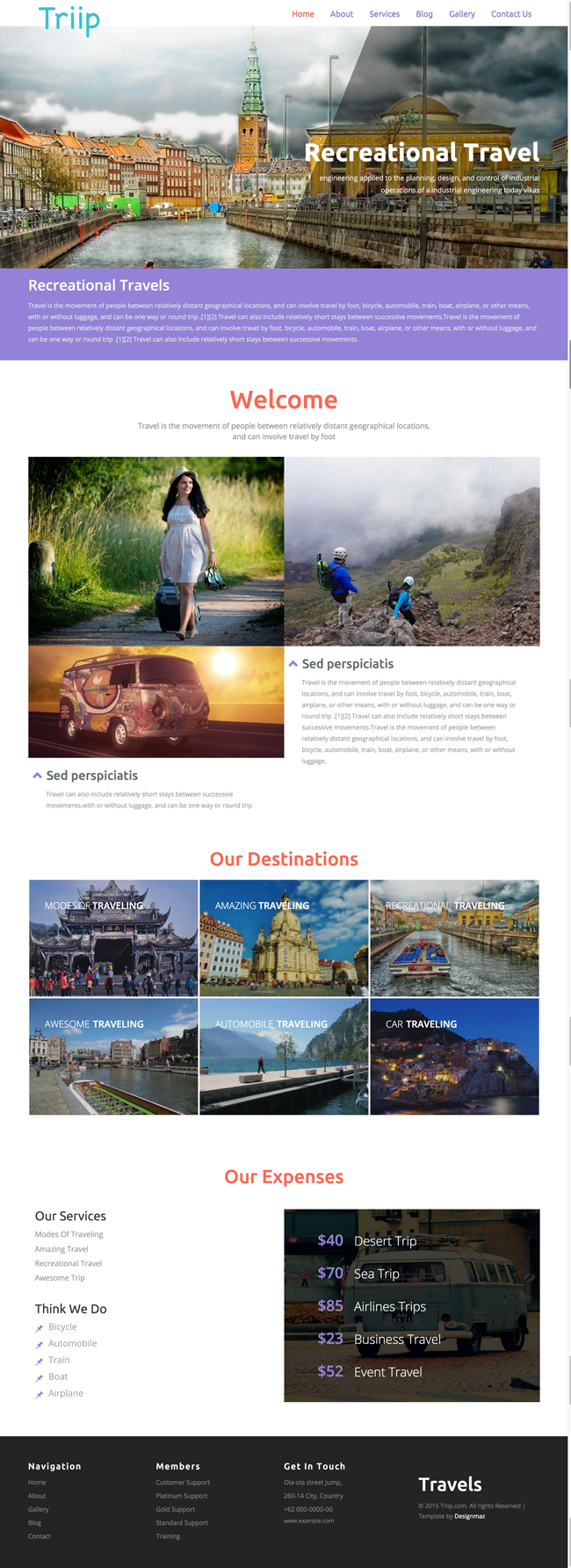 Triip - Free HTML5 CSS3 Travel Agency Template