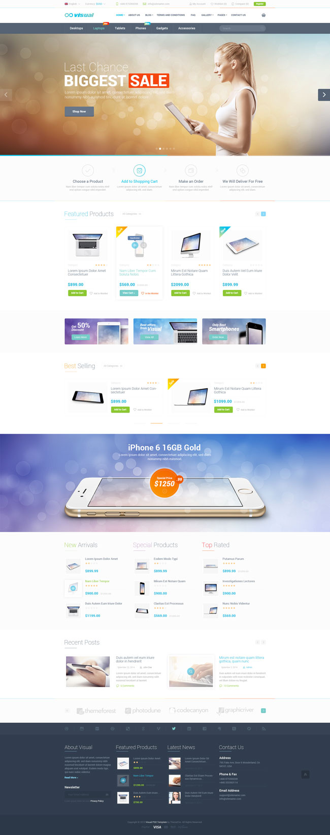 Visual-eCommerce-PSD-Template