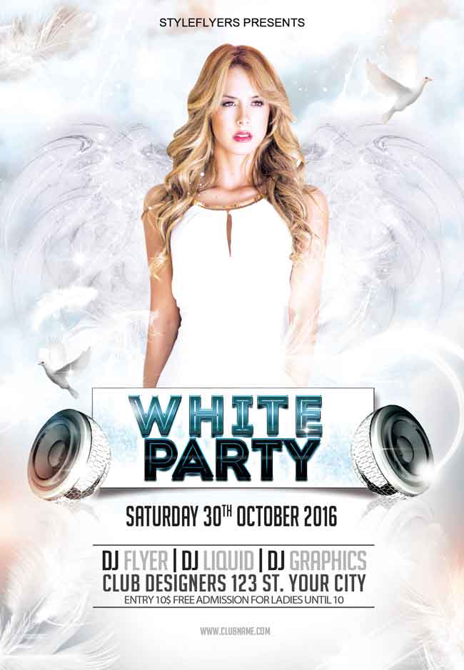 White-Party-Flyer-PSD-free