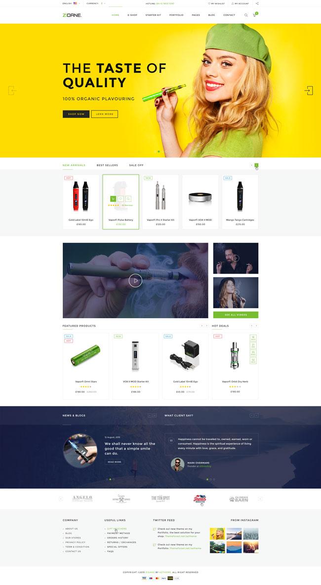 Zidane-Multi-Concept-E-Cigarettes-Ecommerce-PSD-Template