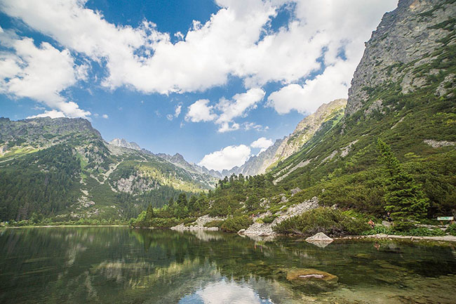 clear lake in high tatras