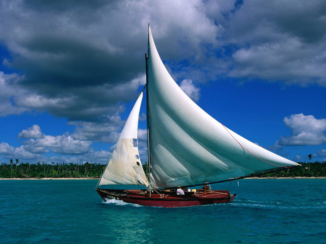 fishing sailboat dominica wallpaper