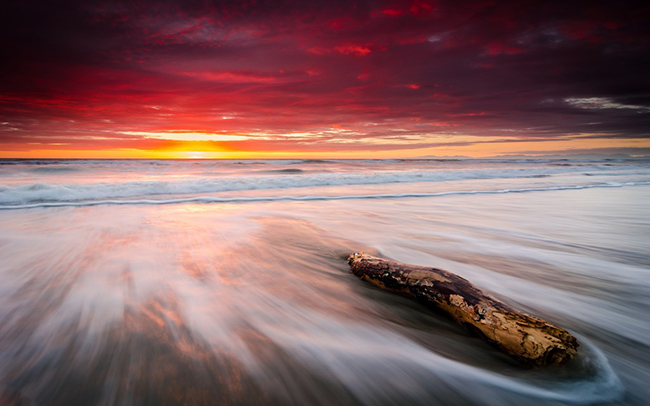 leithfield beach sunrise wallpaper
