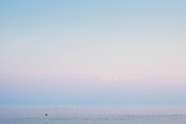 minimalist evening sea