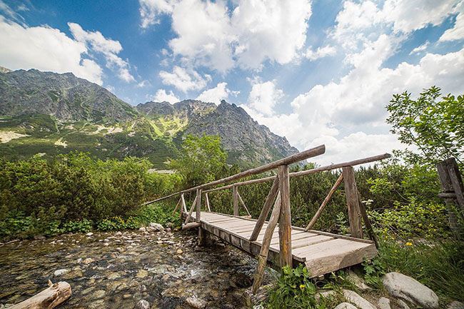 wooden bridge in high tatras