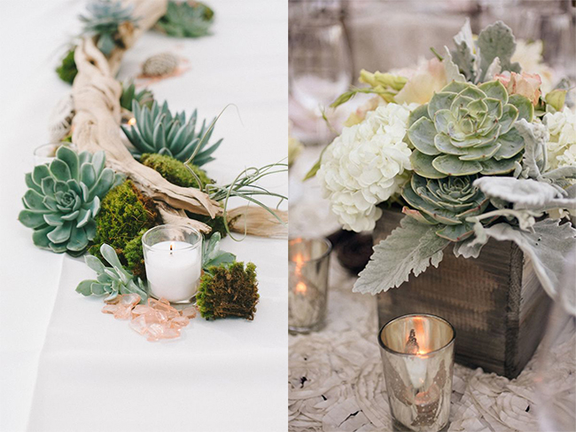 Farmhouse-Chic-Winery-1Wedding-Ideas-Succlent-Wedding-Centerpiece