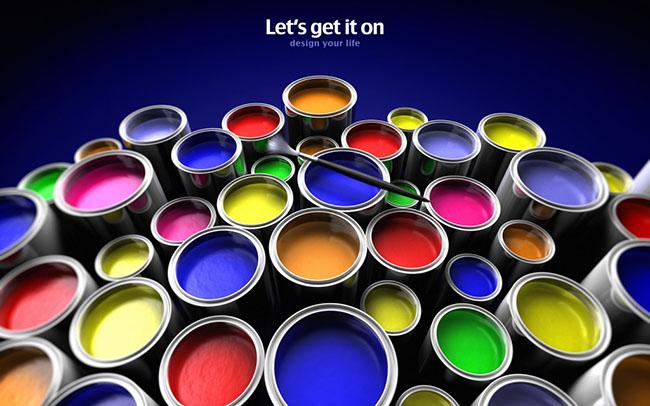 color paints wallpaper