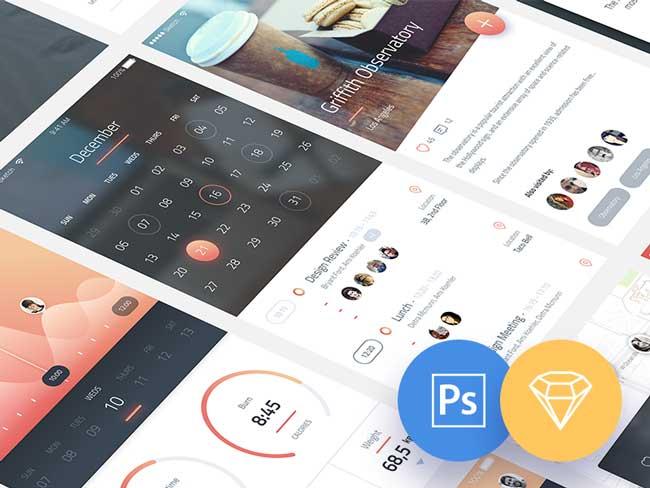 Free-Phoenix-IOS-App-UI-Kit-PSD