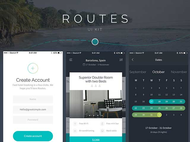 Free-Routes-IOS-App-PSD-UI-Kit-Preview