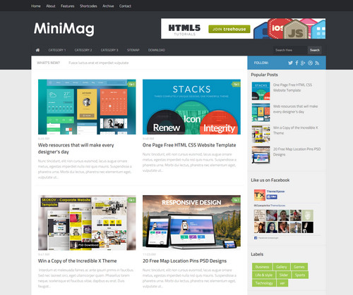 Mini Magazine Blogger Template