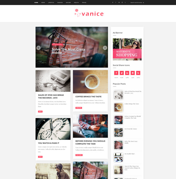 25 free responsive blogger templates 2016 free download vanice magazine style blogger template maxwellsz