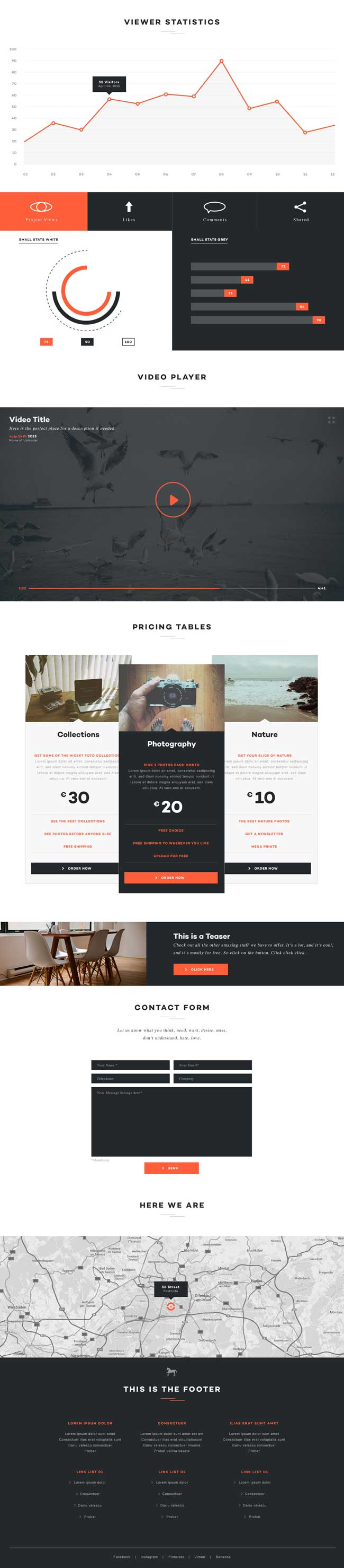 Elegance - Multi-purpose PSD One Page Template Preview