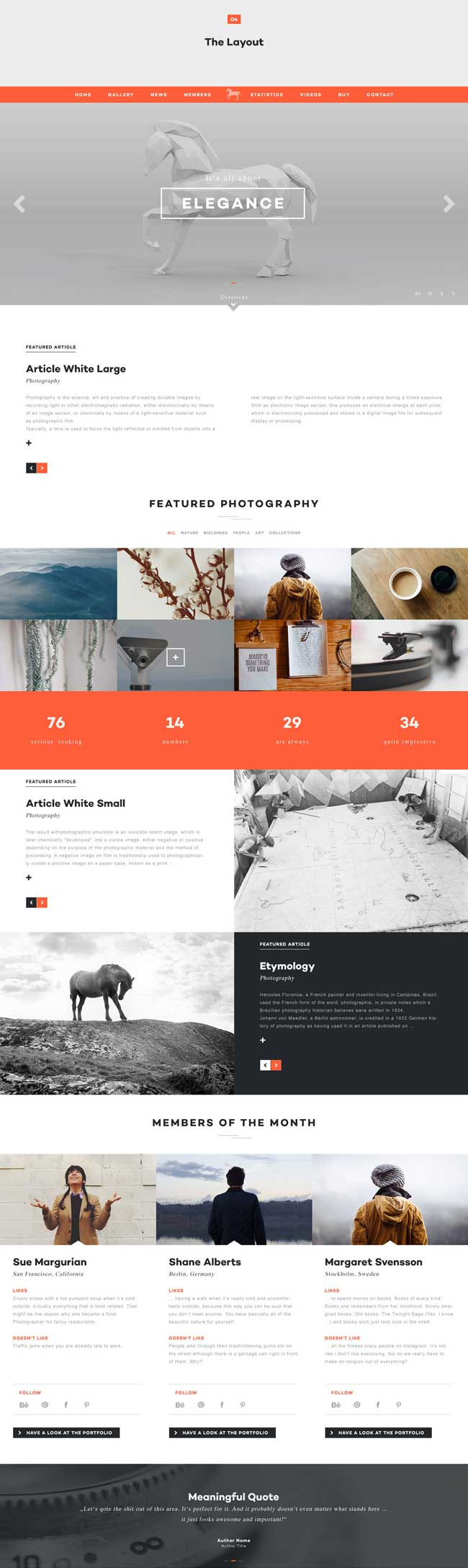Elegance - Multi-purpose PSD One Page Template