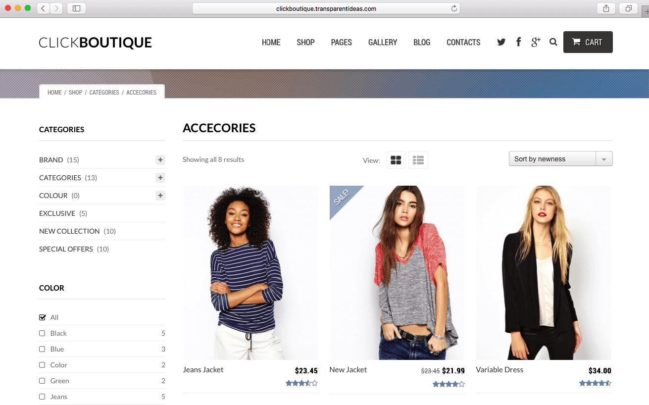 WooCommerce theme 2016 for selling fashion products