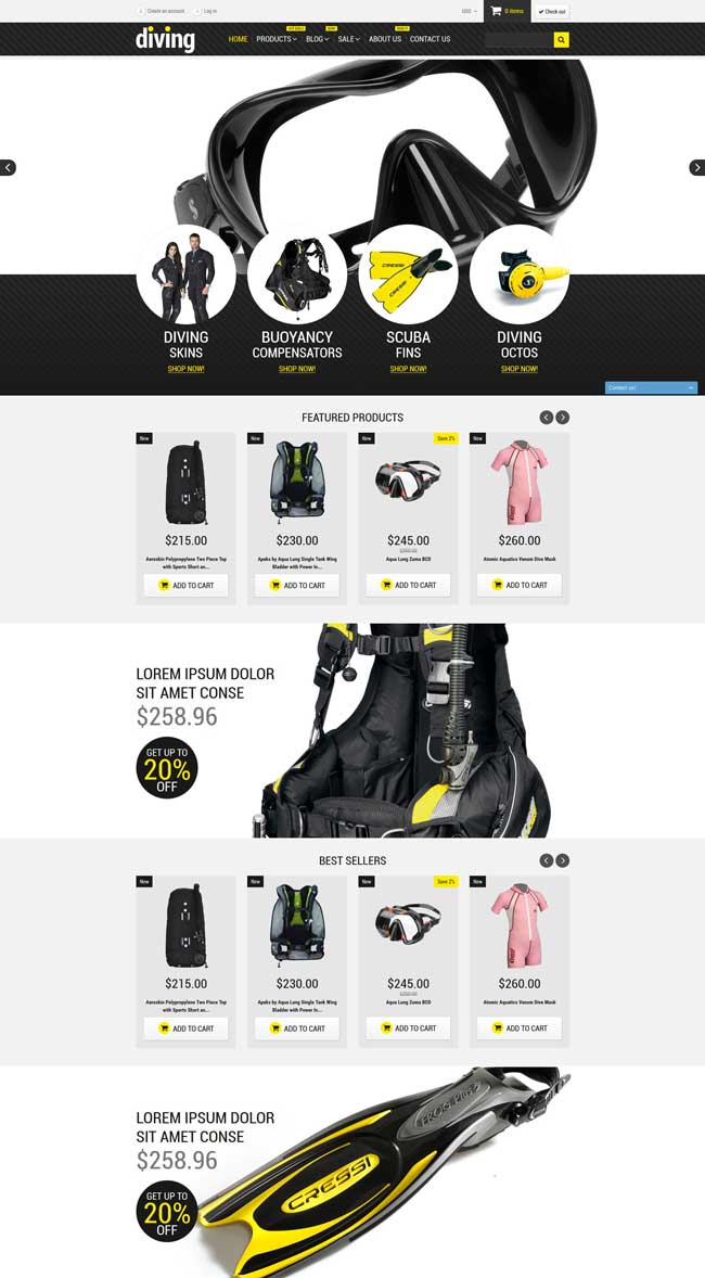 Diving-Shop-Shopify-Theme