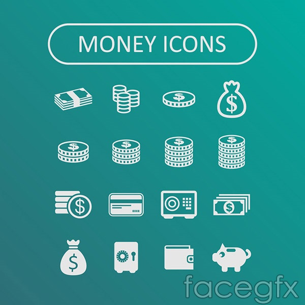 Fine money icon vector