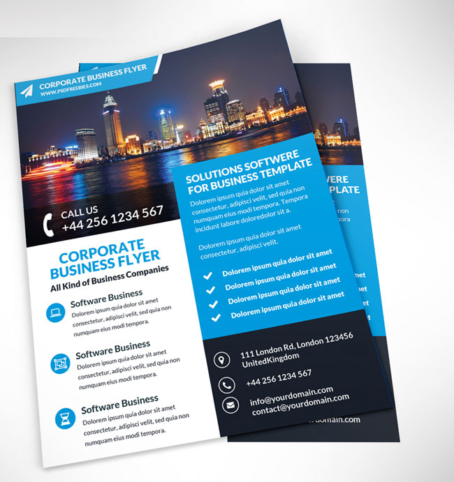 best flyer psd templates designmaz corporate business flyer psd template