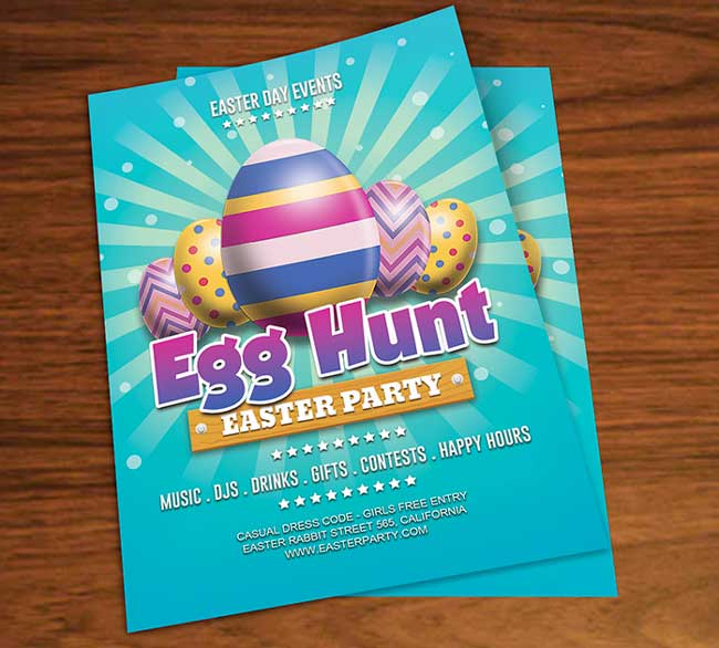 Free easter egg hunt party flyer psd template free download free easter egg hunt party flyer psd template negle