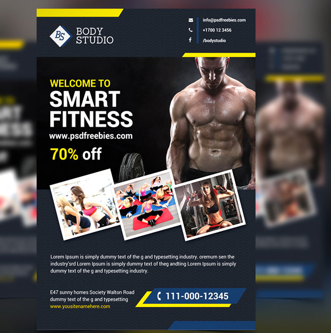 Free-Fitness-Gym-Flyer-PSD-Template