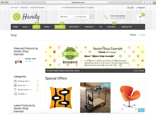 this is how your handmade store looks like on WordPress